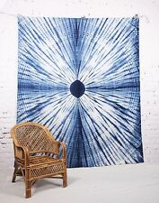 Double Indian Bohemian Shibori Tapestry Wall Hanging Beach Bedspread Mandala