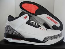NIKE AIR JORDAN 3 RETRO WHITE-BLACK-CEMENT GREY-INFRARED 23 SZ 18 [136064-123]