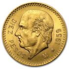 1905-1959 AU+ .900 Gold Mexican 10 Pesos - RANDOM YEARS - OLD ROUND BULLION COIN
