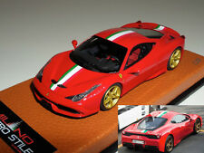 1/43 MR Ferrari 458 Speciale rosso corsa-italian strip-gold wheels Lmt 9 pcs