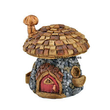 "Miniature Fairy Garden Micro Mini Shingletown Mushroom House 2""H GO 17352 Faerie"