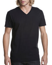 Next Level Men's Fitted Short-Sleeve V-Neck #3200 BLACK SIZE LARGE 2 FOR 14.99,