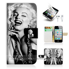 iPhone 5 5S Print Flip Wallet Case Cover! Marilyn Monroe P1371