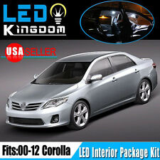 14X For Toyota Corolla 2013-2000 Car Interior LED Light Package Kit Combo White