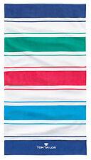 Tom Tailor Duschtuch Strandtuch Strandlaken Badetuch Streifen blau bunt 85x160