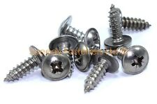 10x Stainless Motorcycle Fairing Panel Self Tapper Screws Pozi 4.2 x 13mm No.8