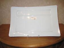 PHILIPPE DESHOULIERES *NEW* EPICURE BLANC Set 2 assiettes rectangul. sans trou