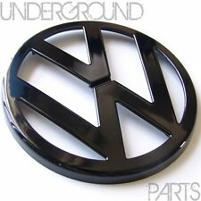 GLOSS BLACK FRONT BUMPER BONNET GRILLE BADGE EMBLEM VW GOLF MK4 TDI GTI 1.8T R32