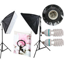 HWASTUDIO 2 x Kit D'éclairage Continu 50x70cm Softbox Doux Boîte Studio Photo