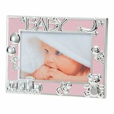"Pink Baby Boy/New Born Photo Frame Silver Plated Icons-6X4""/10X15 cm BFA1015PK"