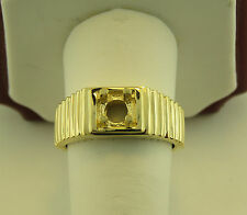 MEN'S SOLITAIRE RING MOUNTING 14K YELLOW GOLD FOR 5/8CT ROUND DIAMOND