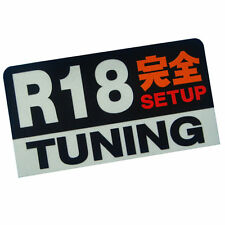 R18 engine Setup Tuning racing 3M JDM stickers decals dash car JDM RX7 RX8