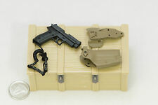 1/6 DAM Devgru Neptune Spear Geronimo Sig P226R Pistol Holster Set *TOY*