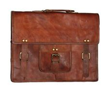 New Men's Vintage Brown Leather satchel Messenger Shoulder Laptop Briefcase Bag