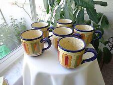 Set of 6 Pfaltzgraff Sedona Pattern Large Coffee Mugs
