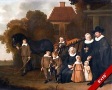 17TH CENTURY NETHERLANDS FAMILY PORTRAIT PAINTING HISTORY ART REAL CANVAS PRINT