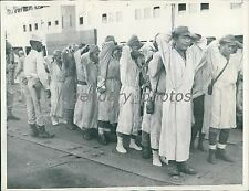 1945 World War II Japanese on Ship are Searched Original News Service Photo
