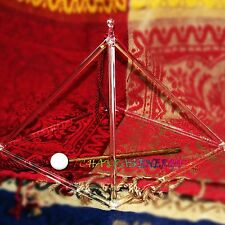 """10"""" large and strong crystal singing pyramid for energy therapy healing"""