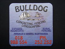 BULLDOG CONCRETING FENCING LANDSCAPING 252252 c1994 COASTER