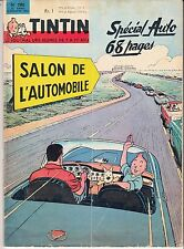 "JOURNAL DE TINTIN ""SALON DE L'AUTOMOBILE"" (OCTOBRE 1963)"