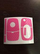 Carbon Pink Dekor Schlüssel Folie Skoda Bora VW Roomster RS Combi Superb Fabia