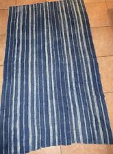 """Vintage African,Dogon Indigo Dyed Fabric/Hand Woven Cotton Strips/36""""x59"""""""
