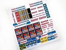 COSTCO GASOLINE PETROL STATION STICKERS for LEGO 1253 1255 1256 CUSTOM BUILD ETC