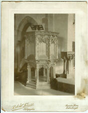 RARE VINTAGE RELGION HOLY ARCHITECTURE: Church Lectern Photograph