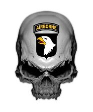 Airborne Division Skull Decal - 101st Old Abe Sticker Military Decals
