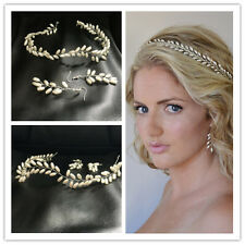 Wedding Bridal Princess Crown Tiara Pearl Hair Accessories Headband Earrings