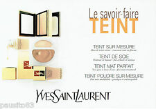 PUBLICITE ADVERTISING 016  1996  Yves Saint-Laurent maquillage fond de teint (2p