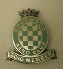 GOODWOOD AERO CLUB 2010 MEMBER Enamel Lapel Pin Badge AVIATION