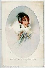 Glamour Girl Flowers Violets Hat Donnina Fiori Violette Cappello PC Circa 1920