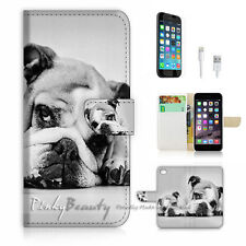 iPhone 7 (4.7') Flip Wallet Case Cover P1180 Bulldog