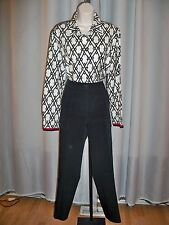 CARLISLE BLACK VERY HIP CARGO STYLE RUNWAY CHIC PANTS 8 JUST GORGEOUS