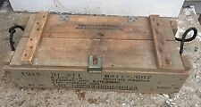 VINTAGE~~ARMY WOODEN AMMO BOX~~MILITARY WOOD CRATE CHEST LOCKER~~(EMPTY)