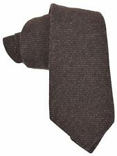 NEW Gucci Men's 351822 Brown Brushed Cashmere and Silk Striped Neck Tie
