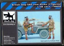 Blackdog Models 1/48 BRITISH SAS JEEP CREW Resin Accessory Set