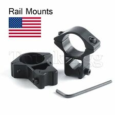 2 X 1Inch /25.4mm Scopes Ring Tactical Scope Mount Bracket High Stand 11mm Rail