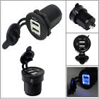 For Harley Davision Dual USB Charger Adapter Power Supply LED Lighter Socket