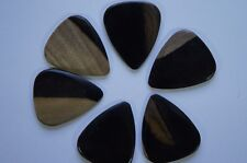 Timber Tones Luxury Wood Guitar Pick - Malay Ebony - Single Pick