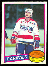 1980 81 OPC O PEE CHEE 195 MIKE GARTNER ROOKIE NM CAPITALS MAPLE LEAFS RC