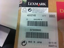 ORIGINALE Lexmark 40x3745 c935 x940 x945 Developer Carrier Magenta Nuovo