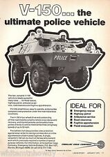 1975 V-150 POLICE Law Enforcement All Terrain & Amphibious Vehicle AD