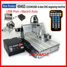 USB four 4 axis 6040 2200W cnc router engraver engraving milling machine  mach3