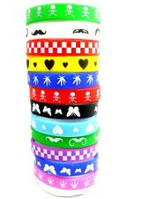 12 Mix desgin wholesale Silicone Bracelet Wristband Children Party Gift jewelry