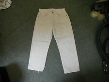 "Levi's 500 Cut Off Cropped Jeans Waist 32"" Leg 23"" Faded Ivory Mens Jeans"