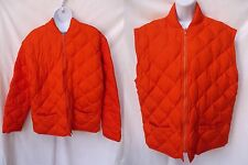 J CREW Mens Hunting Safety Duck Down Quilted Convertible Farm Jacket Coat Vest M
