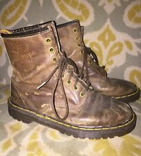 Ladies Dr Martens Boots Air Wair U.K. 5 USA 7 Brown Distressed Leather England
