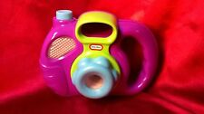 My First Lil' Camera Purple Little Tikes Clicks Flashes Snaps Toddler Toy Used